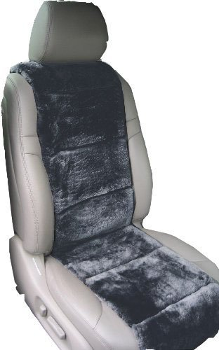 Aegis cover 701003CH Charcoal Luxury Australian Sheepskin Semi Custom Seat Cover Vest, 1 Pack
