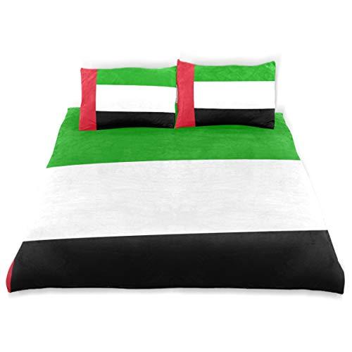 (super3Dprinted United Arab Emirates Flag Kids Duvet Cover Set, Twin Size 3 Piece)