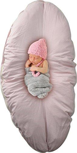 - DorDor & GorGor Pregnancy Pillow, Multi-Functional Patent Design (Pink Stripes)
