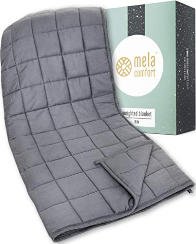 a64d8723ad79c Mela Comfort Weighted Blanket - 15LBS - Adult Queen Size - Helps Maximize  Relaxation & Reduce