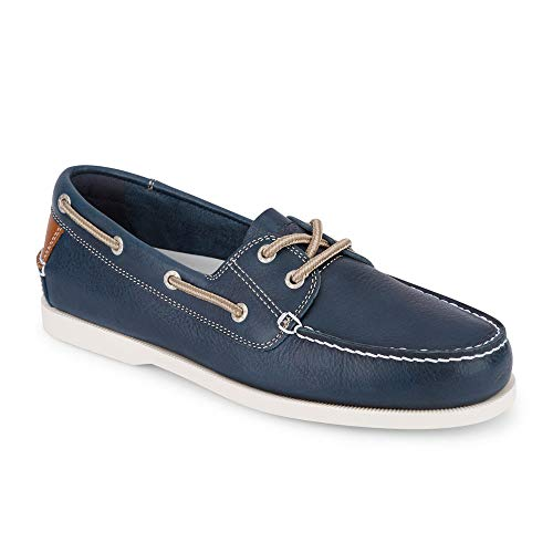- Dockers Mens Vargas Leather Casual Classic Boat Shoe, Navy, 8.5 M