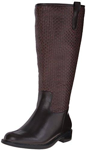 David Tate Womens Quest Riding Boots Marrone Tessuto Intrecciato
