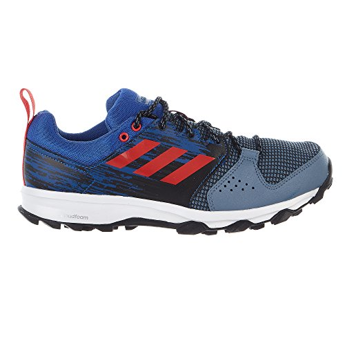 adidas Performance Men's Galaxy Trail m Running Shoe, Raw Steel/Hi-Res Red/Hi-Res Blue, 11.5 M US (Adidas Mens Steel Watch)