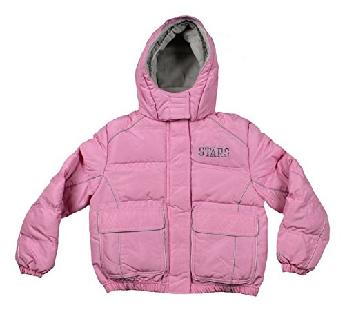 Dallas Stars NHL Hockey Girl's Youth Winter Hooded Jacket in Pink (Girl's L, (Pink Nhl Jacket)