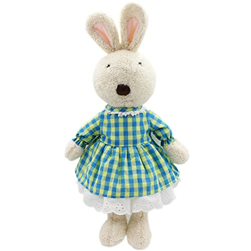 Removable Bunny - JIARU Toys Easter Bunny Rabbits Plush Stuffed Animals with Removable Clothes (White 4, 16 Inch)