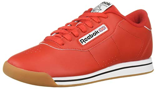 Reebok Women's Princess Sneaker, techy red/white/gum, 7.5 M US