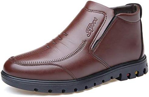 ゴム製アウトソールの余暇の靴の中の暖かいのどの羊毛のブーツスリップメンズアンクル 快適な男性のために設計