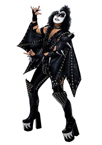 Plus Size Authentic Gene Simmons KISS Costume 2X Black ()