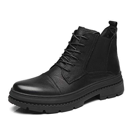 LOVDRAM Männer Schuhe Herbst Und Winter Männer Leder Stiefel Mode Leder Martin Stiefel Männer Casual Militärstiefel Hoch Zu Helfen Herrenschuhe