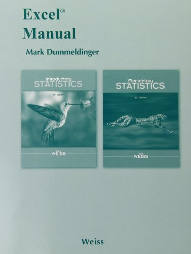 Excel Manual for Introductory Statistics and Elementary Statistics