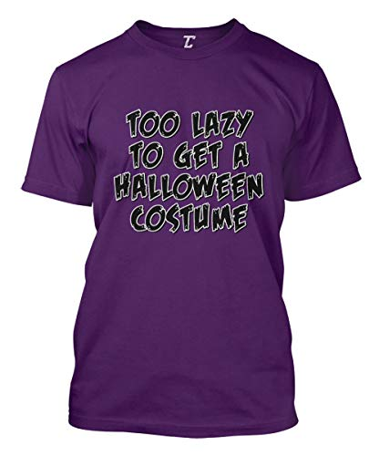 Too Lazy to Get A Halloween Costume - Funny Men's T-Shirt (Purple, XX-Large)