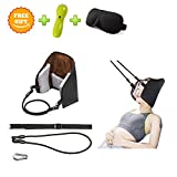 [Upgrade Version] BAZZAARA Hammock for Neck - Portable Cervical Traction and Relaxation Device. Easily Attach to Any Door or Railing for Chronic Neck and Shoulder Pain Relief in 10 Minutes or Less