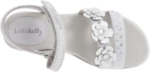 Lelli Kelly LK4434 (LA01) Bianco Glitter Ibiza Espadrille Adjustable Sandals-37 (UK 4)