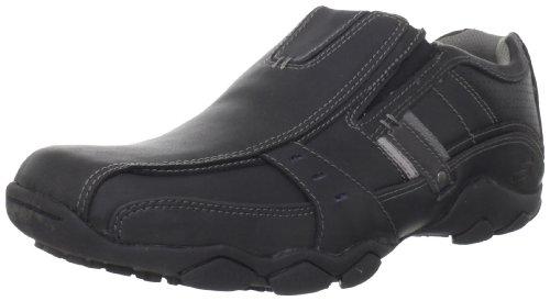 Skechers Diameter Garzo 62895 BLK - Zapatos de cuero para hombre Negro