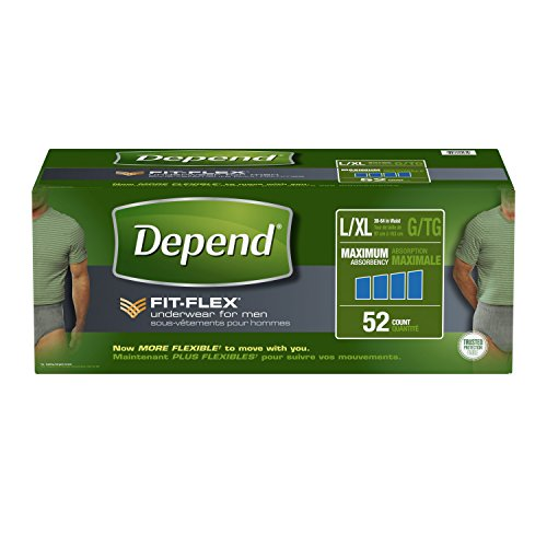 Depend FIT-FLEX Incontinence Underwear for Men, Maximum Absorbency, - Diapers In Xl Size