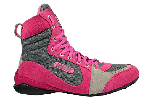 Uzafit Hollywood Bodybuilding Weightlifting CrossFit Boxing Shoe Sneaker Hot Pink and Grey Women's 7 by Uzafit