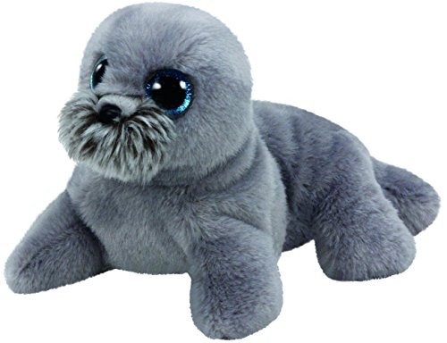 Ty Wiggy Sea Lion Plush, Grey, (Beanie Boo Seal)