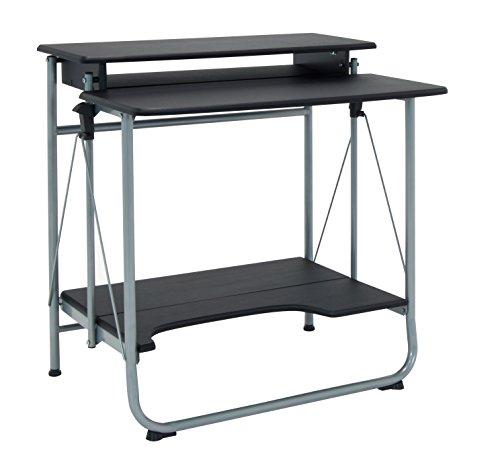 Calico Designs 51238.0 Stow Away Folding Desk, Silver/Black