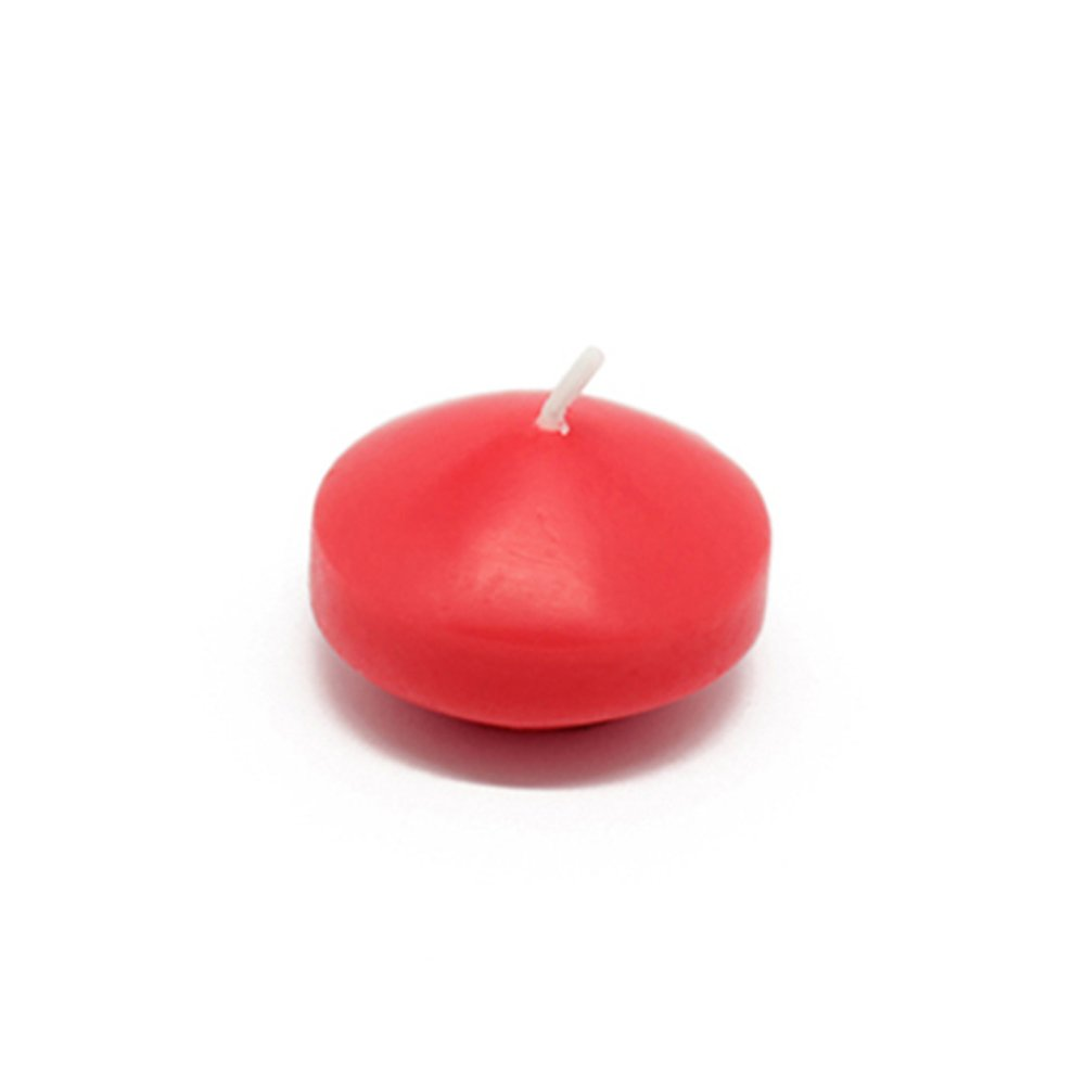 Zest Candle CFZ-007_12 288-Piece Floating Candle, 1.75'', Ruby Red