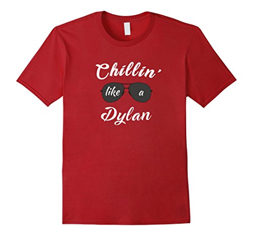 Mens Chillin' Like a Dylan Boy Named Dylan T-shirt Large - Charge Sunglasses T