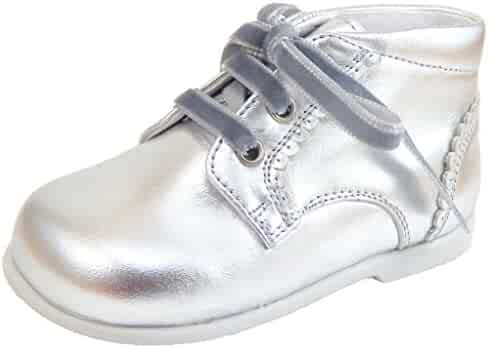 DE OSU - Girls Metallic Leather Boots P-7779 (Infant   Toddler) 95e7a07008a