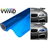 VViViD XPO Blue Headlight - Tail Light Window Tint 2-Pack (12in X 24in)