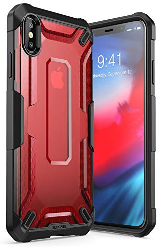 iPhoneXsMaxCase, SUPCASE [Unicorn Beetle Series] Premium Hybrid Protective TPU and PC Clear Case for iPhoneXsMaxCase 6.5 Inch 2018 Release (Red)
