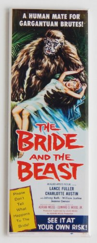 The Bride and the Beast Movie Poster Fridge Magnet (1.5 x 4.5 inches) -