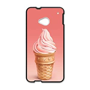 Pink Wafer HTC One M7 Cell Phone Case Black I0491206