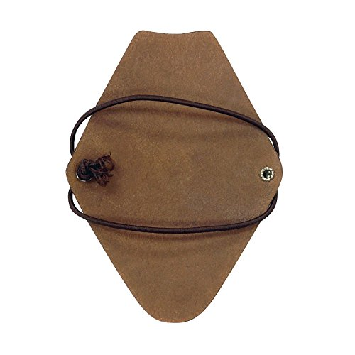 Review Serious Archery Kids Size Diamond Shape Bow Hunting Armguard in Brown Leather