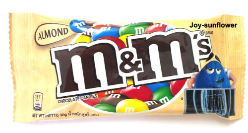 M & M's Chocolate Candies Melts in Your Mouth Not in Your Hand - Almond 30 -