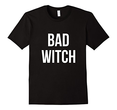 [Men's Bad Witch Halloween T-Shirt Funny Costume Small Black] (Bad Witch Halloween Costumes)