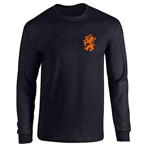 Dutch Soccer Retro National Team Holland Black L Long Sleeve T-Shirt