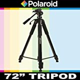 """Polaroid 72"""" Photo / Video ProPod Tripod Includes Deluxe Tripod Carrying Case + Additional Quick Release Plate For The Samsung SMX-F43, F44, F40, F54, F50, F53, H204, H200, H203, H205, H300, H303, H304, H305, Q10, P300, P100, K45, S10, S16, S16 Camcorder"""