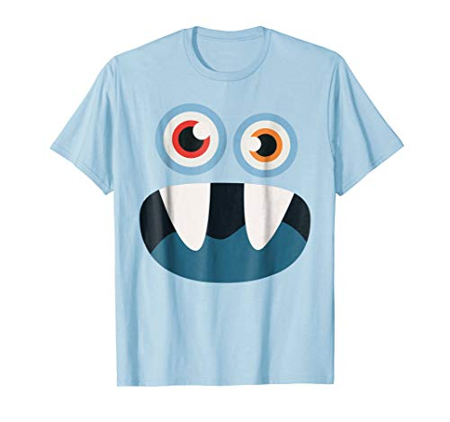 Simple Halloween Costume: Monster Face T-Shirt Kids Gift -