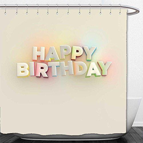 Beshowere Shower Curtain happy birthday - Francisco San Macy's