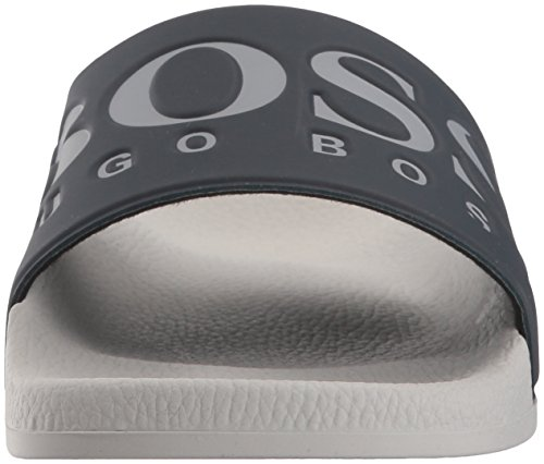 Hugo Boss Hombres Solar Slide Sanda Open Gray