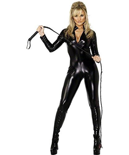 Smiffys Women's Fever Miss Whiplash Costume, zipper Up Catsuit, Fantasy, Fever, Size 14-16, 28629 ()