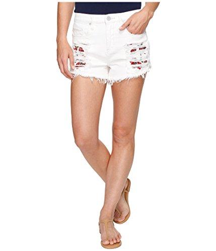 貧困相談する切り刻む[ブランクニューヨークシティー] Blank NYC レディース High-Rise Shorts with Embroidered Detail in Lightbox White パンツ Lightbox White 30 [並行輸入品]