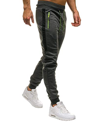 Kuulee Men's Active Athletic Slim Fit Tapered Joggers Sweatpants for Running Workout (S, Viper-Gray)