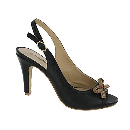 Michelle Anne Toe Style Sandals Ladies Black L2275 Peep 5SaxZqqdnz