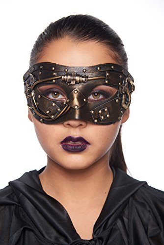 Jettison Steam Punk Masquerade Mask (Unisex; One Size Fits Most; Gold)