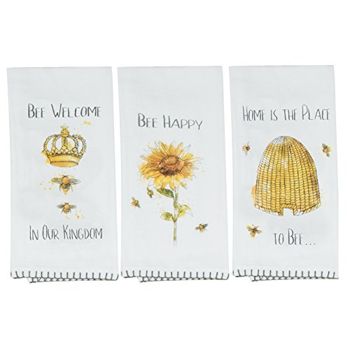 Kay Dee Designs Bee Themed Assorted Flour Sack Towels, Set of 3 by Kay Dee