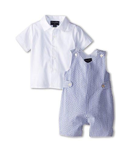 Price comparison product image OSCAR DE LA RENTA Childrenswear Baby Boy's Seersucker Romper (Infant) Navy 12 Months