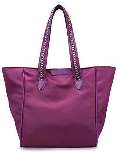 Women's Oxford Nylon Work Tote Shoulder Bag (Purple) by PlasMaller