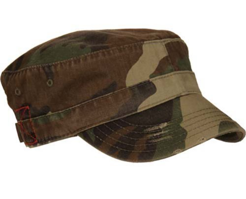 MG Distressed Washed Cotton Cadet Army Cap (Camo)… (Camo Cap Washed)