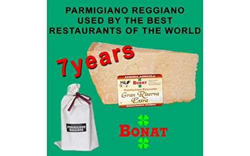 BONAT, Parmigiano Reggiano Pdo, aged for 7 years, 1 kg. (2,3 lbs) + a cotton freshness sack. by Parmigiano Reggiano Bonat