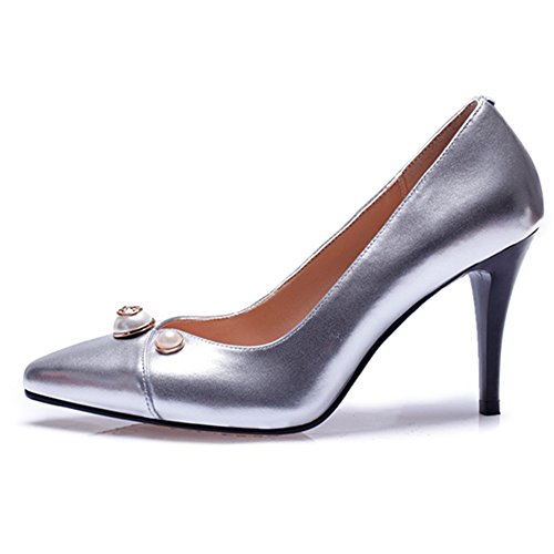 Nine SevenHeels - Sandalias con cuña mujer leather-silver