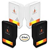 #5: Campfire Stuff NEW 4-Pack Ultrasonic Pest Repeller - Electronic & Ultrasound, Indoor Plug-In Repellent | Anti Mice, Insects, Bugs, Ants, Mosquitos, Rats, Spiders, Roaches, Rodents - Child & Pet Safe
