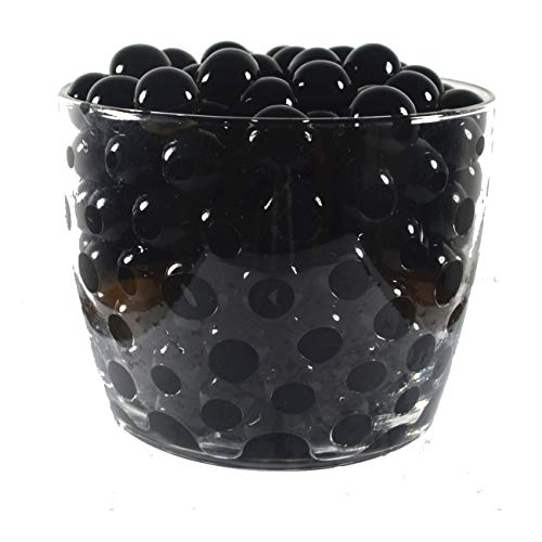 (Water Pearls Gel Beads- Wedding & Event Centerpieces- Cosmo Beads (Tm)-Makes 3 Gallons (4 Oz. Pack) (Black))